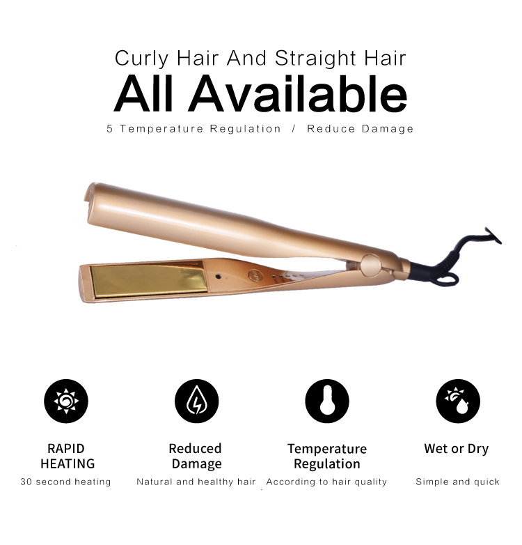 meiduojiao 2019 new straight hair artifact roll straight dual-purpose hair straightener plywood five-speed temperature control straight hair gift box